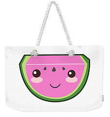 Cute Watermelon Illustration Weekender Tote Bag by Pati Photography