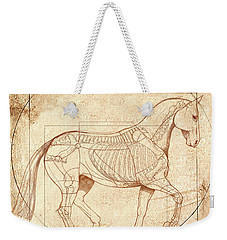 da Vinci Horse in Piaffe Weekender Tote Bag by Catherine Twomey
