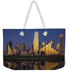 Dallas At Dusk Weekender Tote Bag by Rick Berk