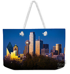 Dallas Skyline Weekender Tote Bag by Inge Johnsson