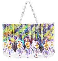 Dancers In The Forest Weekender Tote Bag by Kip DeVore