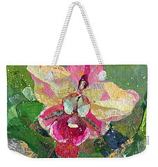 Dancing Orchid I Weekender Tote Bag by Shadia Derbyshire