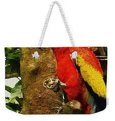 Danse Macaw Weekender Tote Bag by Jeff Kolker