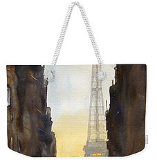 Dawn In Paris Weekender Tote Bag by James Nyika