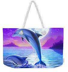 Day Of The Dolphin Weekender Tote Bag by Robin Koni