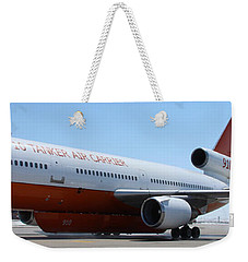 Weekender Tote Bag featuring the photograph Dc-10 Air Tanker At Rapid City by Bill Gabbert