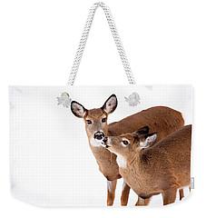 Deer Kisses Weekender Tote Bag by Karol Livote