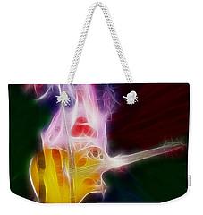 Deff Leppard-adrenalize-joe-gf25-fractal Weekender Tote Bag by Gary Gingrich Galleries