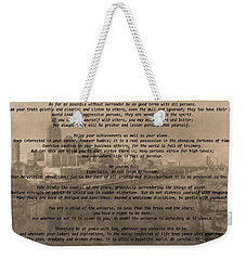 Desiderata Nashville Weekender Tote Bag by Dan Sproul