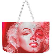 Marilyn Monroe - ' Dia De Los Monroe ' Weekender Tote Bag by Christian Chapman Art