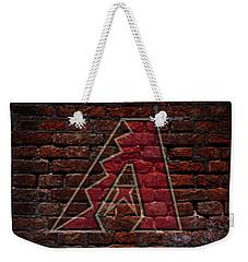 Diamondbacks Baseball Graffiti On Brick  Weekender Tote Bag by Movie Poster Prints