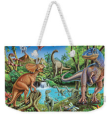 Dinosaur Waterfall Weekender Tote Bag by Mark Gregory