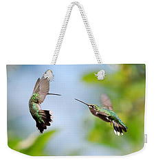 Direct Confrontation Weekender Tote Bag by Christina Rollo