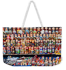 Display Of The Russian Nesting Dolls Weekender Tote Bag by Panoramic Images