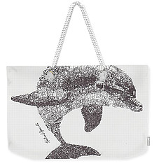 Dolphin Weekender Tote Bag by Michael  Volpicelli