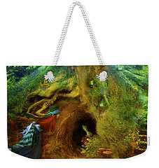 Down The Rabbit Hole Weekender Tote Bag by Aimee Stewart