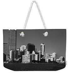 Downtown Miami Panorama Monochrom  Weekender Tote Bag by Christiane Schulze Art And Photography