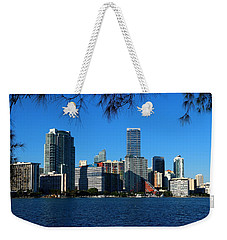 Downtown Miami Skyline Weekender Tote Bag by Christiane Schulze Art And Photography