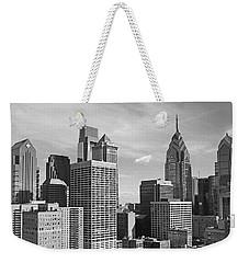 Downtown Philadelphia Weekender Tote Bag by Rona Black