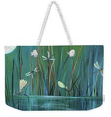 Dragonfly Diner Weekender Tote Bag by Carol Sweetwood