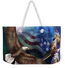 Dream Catcher - Freedom's Flight Weekender Tote Bag by Carol Cavalaris