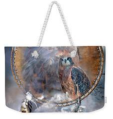 Dream Catcher - Hawk Spirit Weekender Tote Bag by Carol Cavalaris