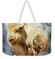 Dream Catcher - Spirit Of The White Buffalo Weekender Tote Bag by Carol Cavalaris