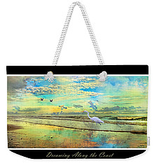Dreaming Along The Coast -- Egret  Weekender Tote Bag by Betsy Knapp