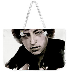 Drifting Words II   Bob Dylan Weekender Tote Bag by Iconic Images Art Gallery David Pucciarelli