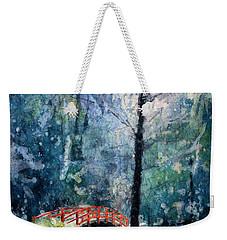 Duke Gardens Watercolor Batik Weekender Tote Bag by Ryan Fox