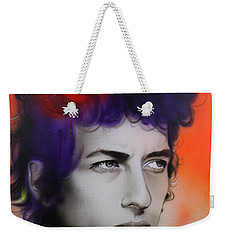 Bob Dylan - ' Dylan ' Weekender Tote Bag by Christian Chapman Art