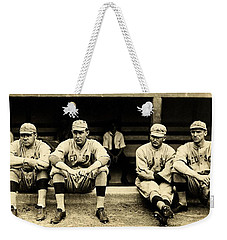 Early Red Sox Weekender Tote Bag by Benjamin Yeager