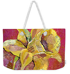 Early Spring I Daffodil Series Weekender Tote Bag by Shadia Derbyshire