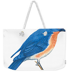 Eastern Bluebird Weekender Tote Bag by Anonymous