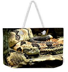 Eastern Diamondback Rattlesnake Weekender Tote Bag by Deena Stoddard