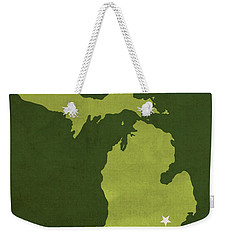 Eastern Michigan University Eagles Ypsilanti College Town State Map Poster Series No 035 Weekender Tote Bag by Design Turnpike