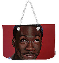 Eddie Murphy Painting Weekender Tote Bag by Paul Meijering