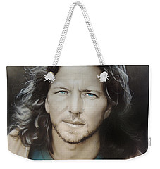 ' Eddie Vedder ' Weekender Tote Bag by Christian Chapman Art