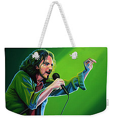Eddie Vedder Of Pearl Jam Weekender Tote Bag by Paul Meijering