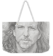 Eddie Vedder Weekender Tote Bag by Olivia Schiermeyer