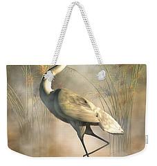 Egret Weekender Tote Bag by Daniel Eskridge