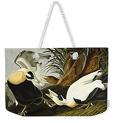 Eider Ducks Weekender Tote Bag by John James Audubon
