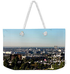 Elevated View Of City, Los Angeles Weekender Tote Bag by Panoramic Images