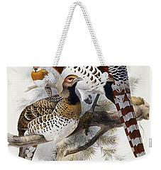 Elliot's Pheasant Weekender Tote Bag by Joseph Wolf