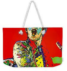 Elton In Red Weekender Tote Bag by John Farr