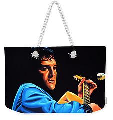 Elvis Presley 2 Painting Weekender Tote Bag by Paul Meijering