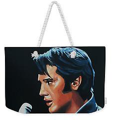 Elvis Presley 3 Painting Weekender Tote Bag by Paul Meijering