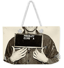 Elvis Presley - Mugshot Weekender Tote Bag by Simon Wolter