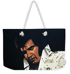 Elvis Presley Painting Weekender Tote Bag by Paul Meijering