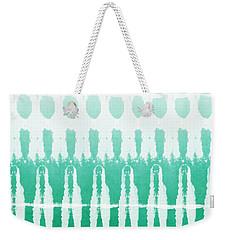Emerald Ombre  Weekender Tote Bag by Linda Woods